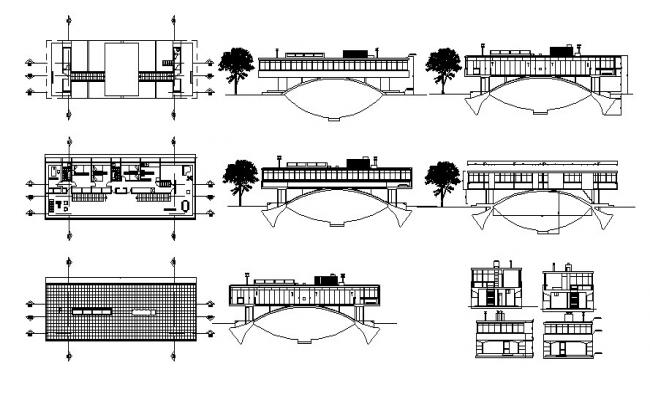 House Plan Section Elevation In AutoCAD File