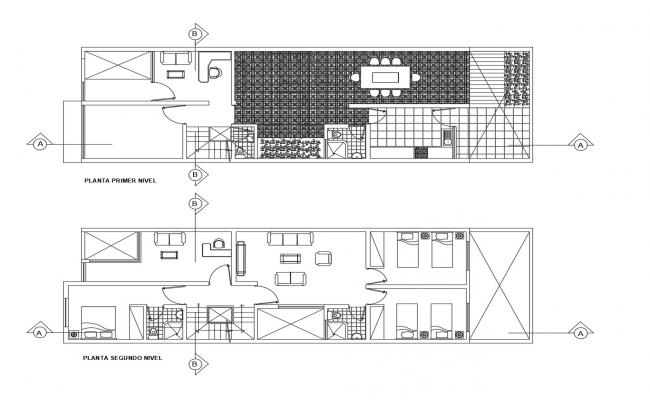 2 Bedroom House Plan In AutoCAD File