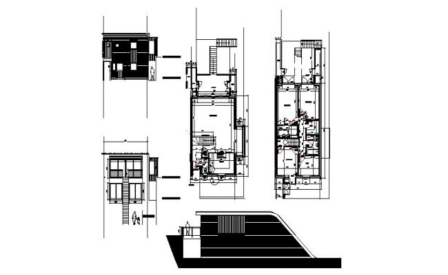 House Section Plan In DWG File