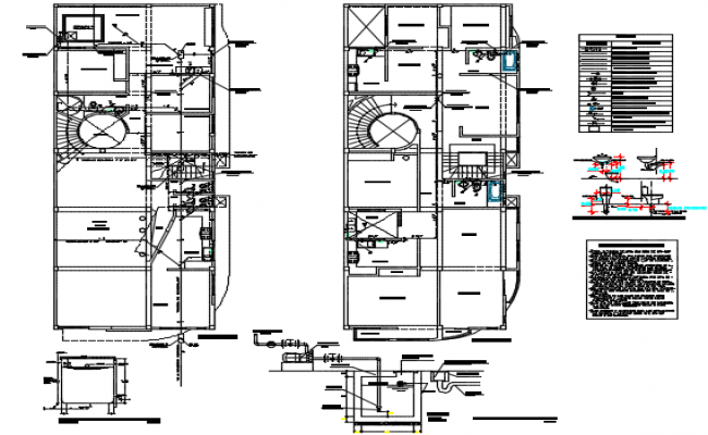 House plan working detail dwg file