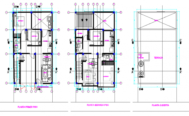 House planning detail dwg file