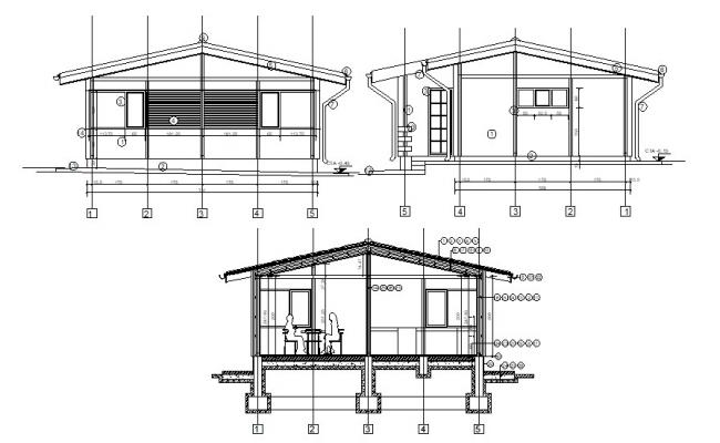 House section drawings dwg file