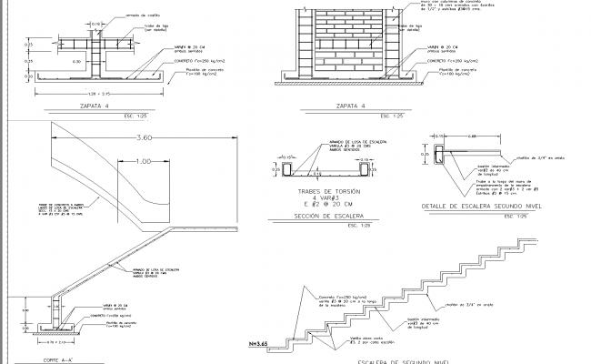 House spit level plan dwg detail.,