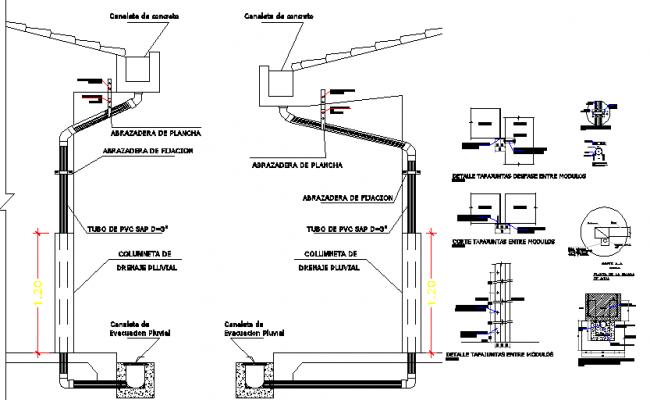 House storm ventilation construction details dwg file