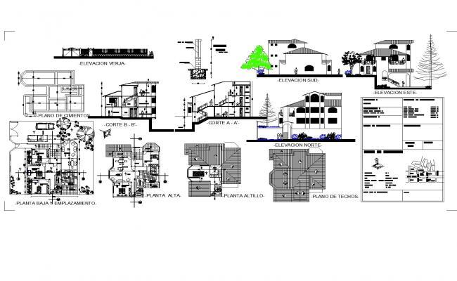 House two plants plan detail dwg file.