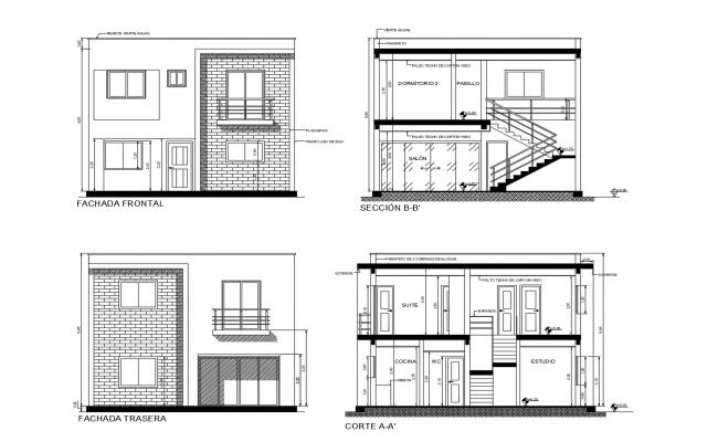 Download Free Building elevation in AutoCAD file