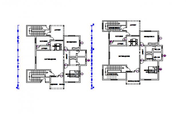 House working plan detail dwg file