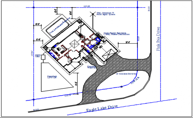 House working plan view details dwg file