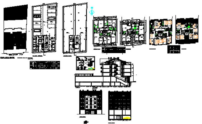 Houses between mediators center block design drawing