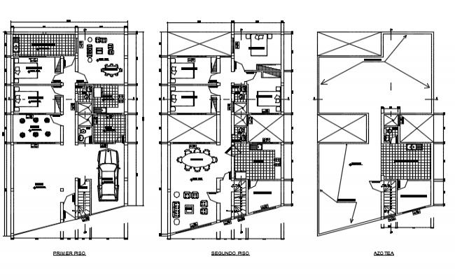Housing  plan detail dwg file