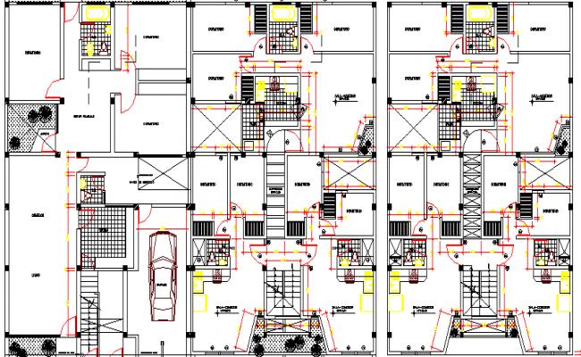 Housing Building Project Structure Details dwg file