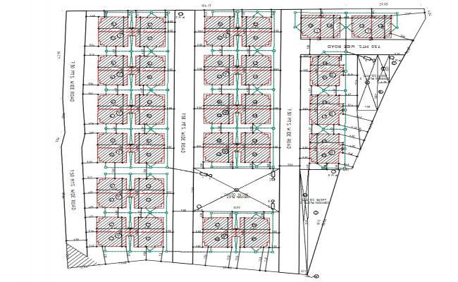Housing Layout Plan DWG File Details