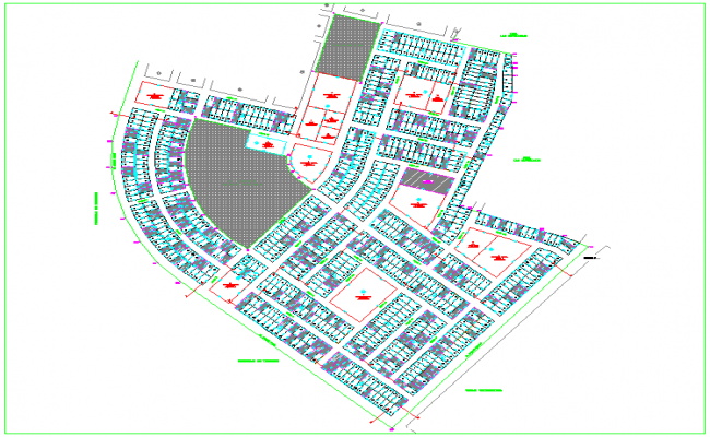 Housing area design with block view