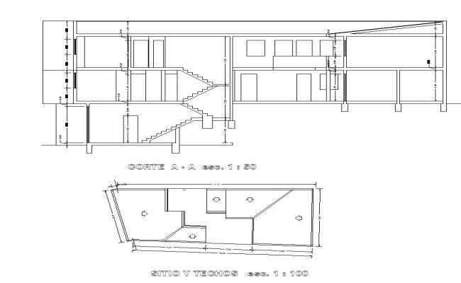 Housing elevation detail plan
