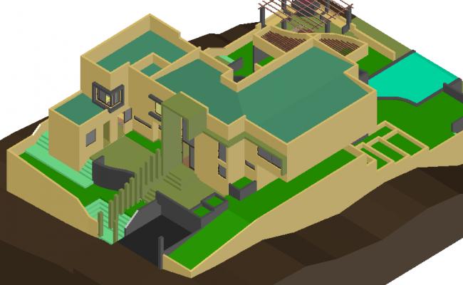 Housing model view in 3d
