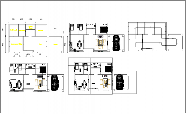 Housing plan information dwg file