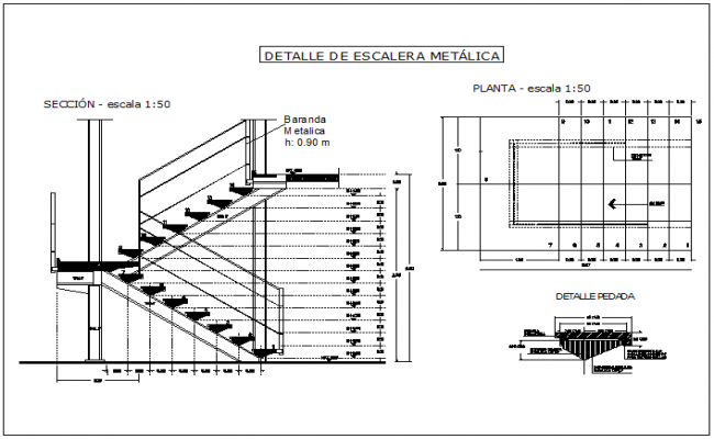 Housing plan of stair plan view detail dwg file