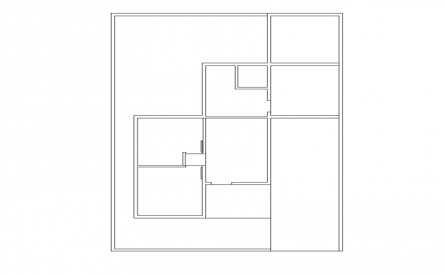 Housing structure building detail 2d view layout plan