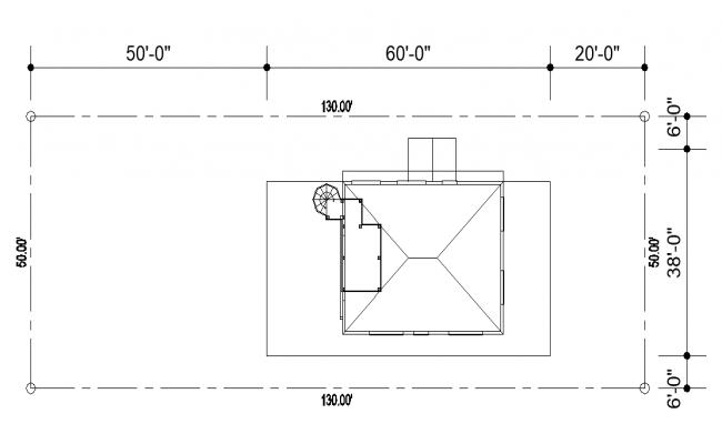 Housing structure detail plan layout autocad file