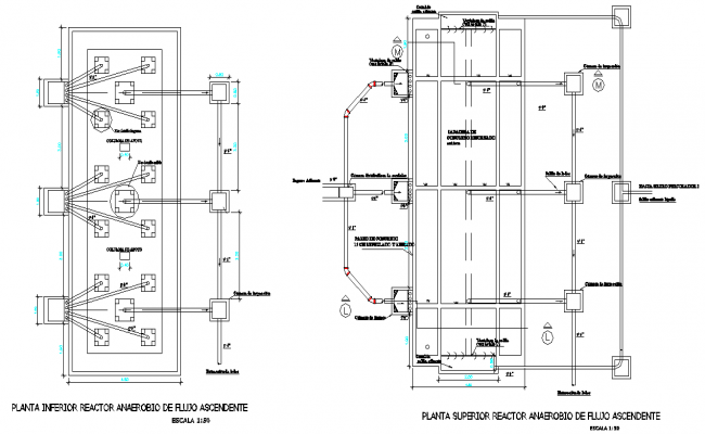 Housing water pipe line autocad file