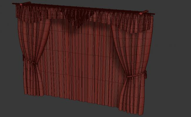 Huge Curtain Design With Ethnic Style 3D MAX File Free Download