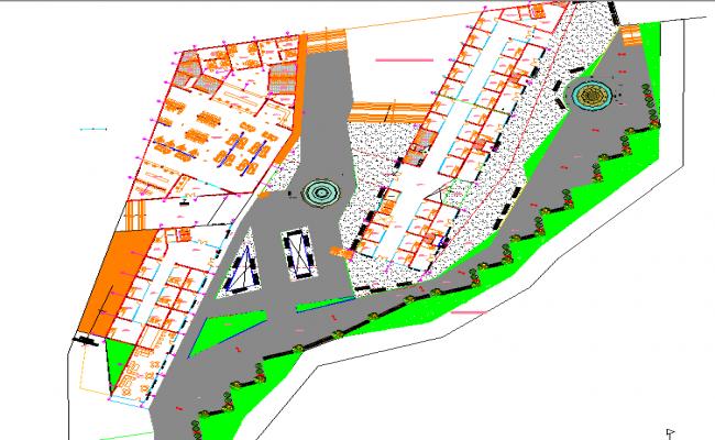 Hybrid building-tumbesecuador layout plan dwg file