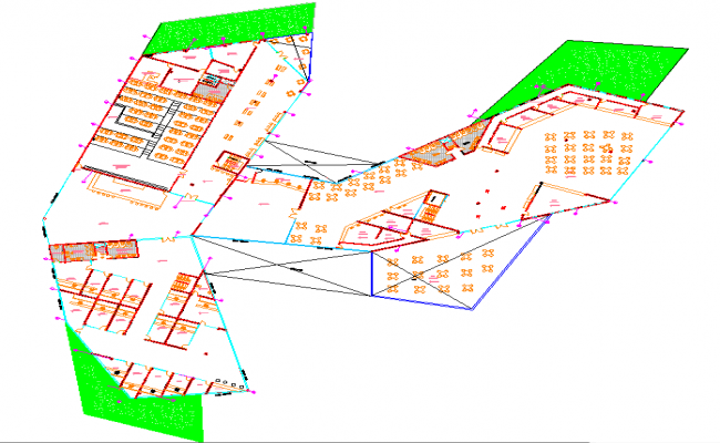 Hybrid building-tumbesecuador layout plan dwg file