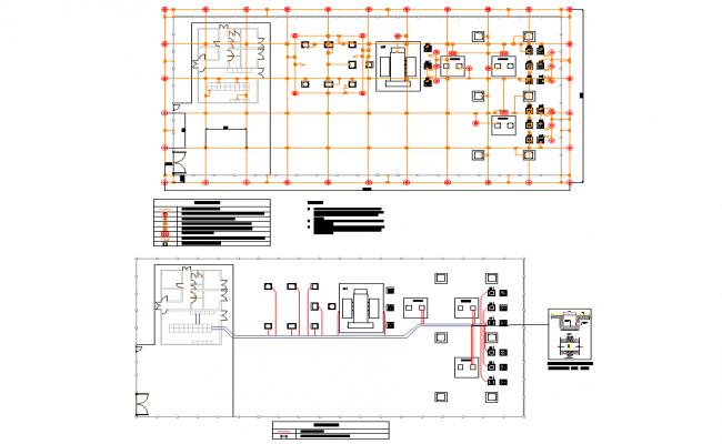 Hybrid electric substation design autocad file