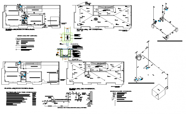Hydraulic design view of car office area with detail dwg file