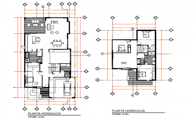 Hydraulic house plan detail dwg file