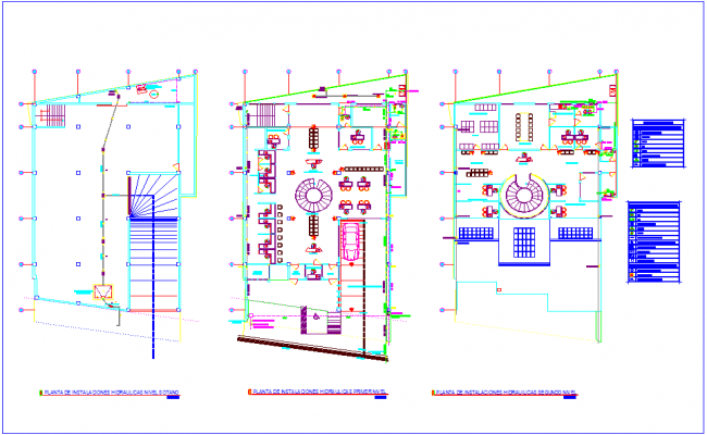 Hydraulic installation view floor plan  of bank dwg file
