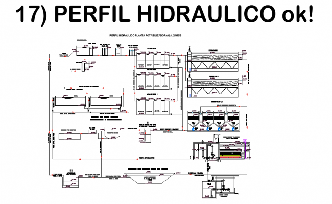 Hydraulic plan detail dwg file