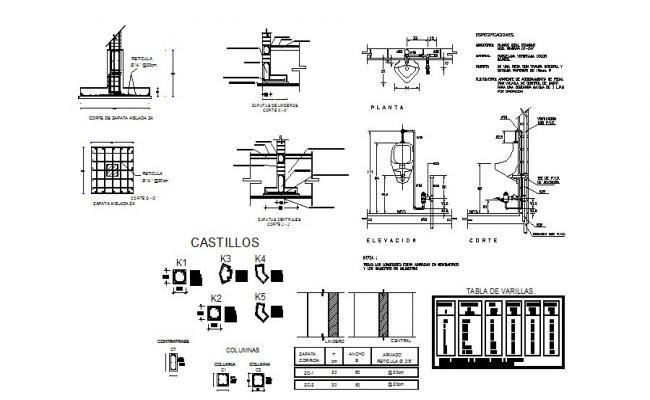 Hydraulic water system and plumbing details of house