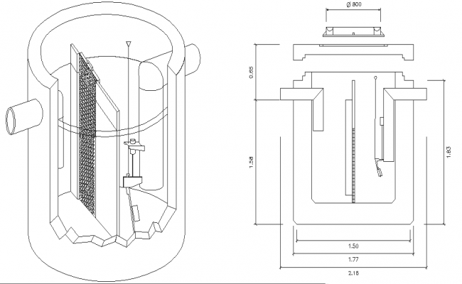 Hydrocarbon settling tank