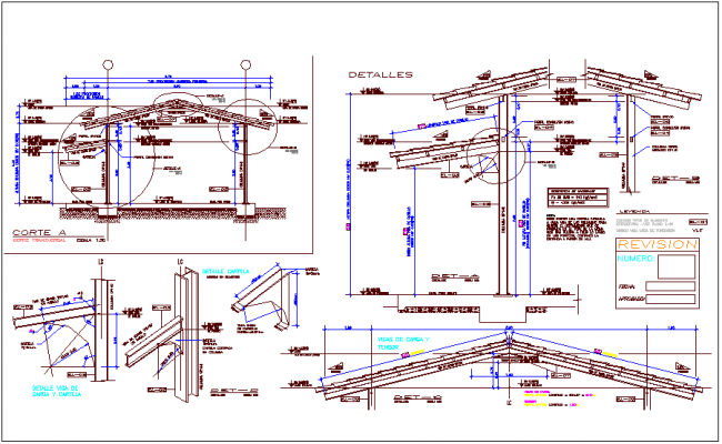 I beam and channel structural detail and isometric view for education center dwg file