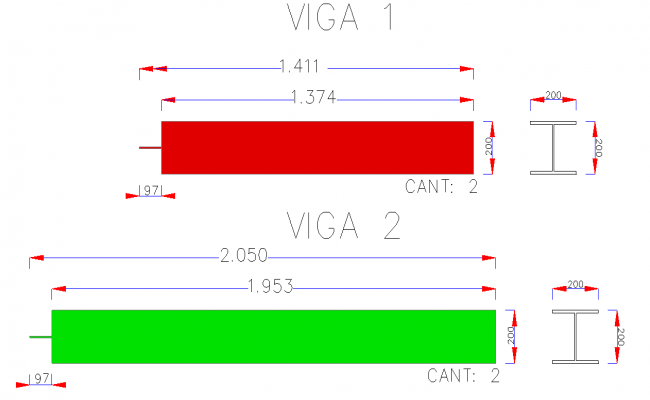 I section detail dwg file