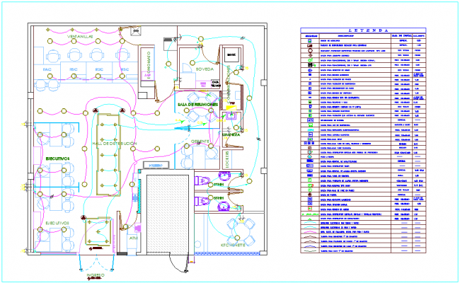 IIEE updated with electrical equipment installation view and its legend dwg file