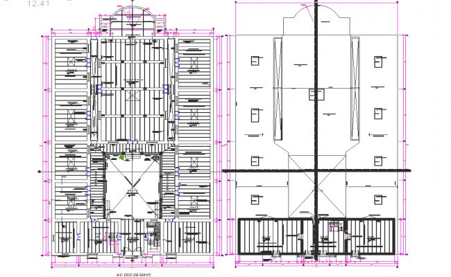 Iconic school plan dwg file