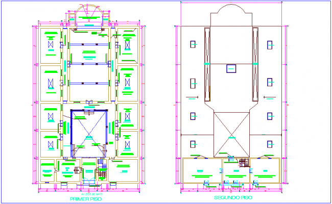 Iconic school restoration floor plan dwg file