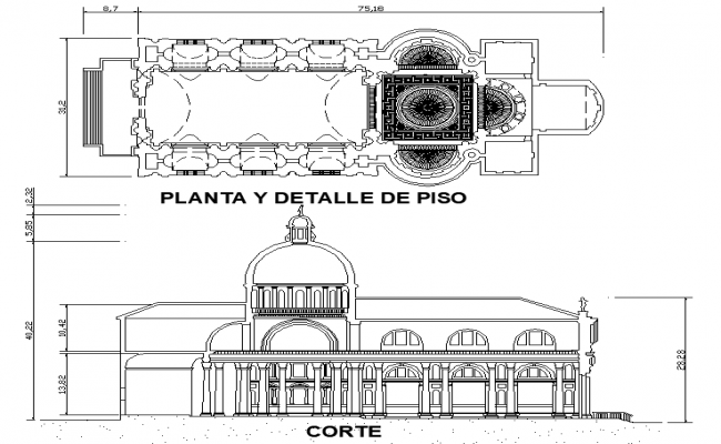 Ilredentor plan and section detail