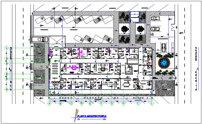 Imaging center for diagnosis plan for medical center dwg file
