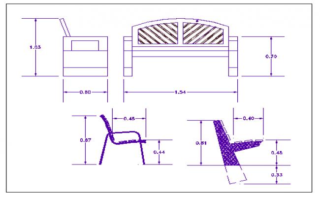 Indoor park equipment details dwg file