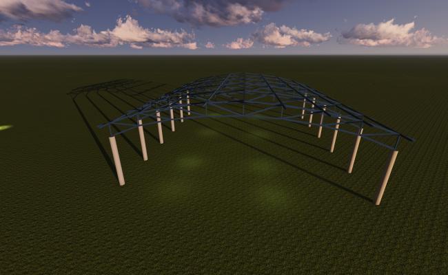 Industrial  buildingroof30x30.