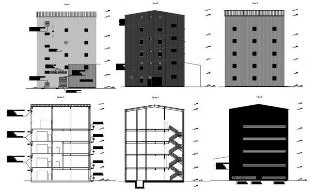 Industrial Building Plan CAD File