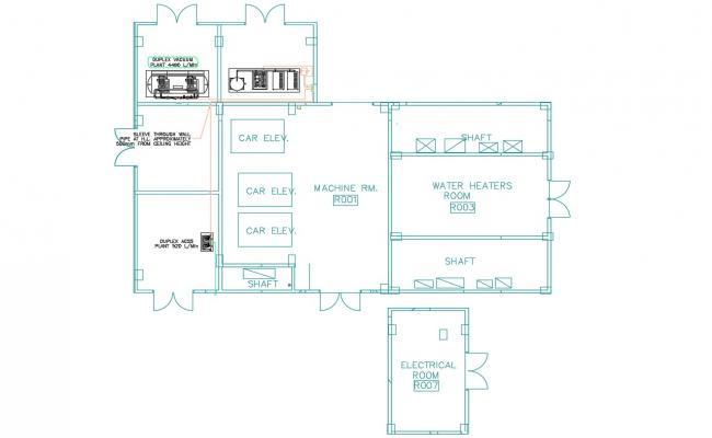 Industrial Machine Room Design Layout Plan