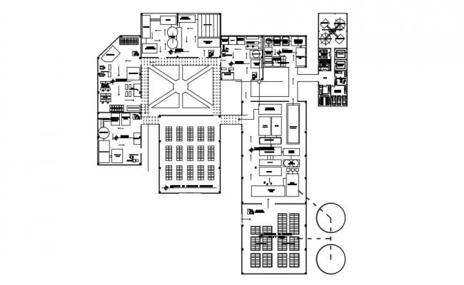 Industrial Plan In AutoCAD Drawing