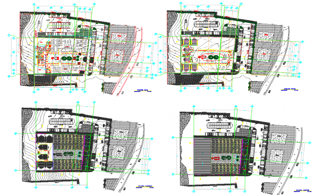Industrial Project Layout plan dwg file