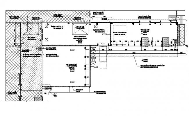 Industrial architecture style Building layout CAD plan
