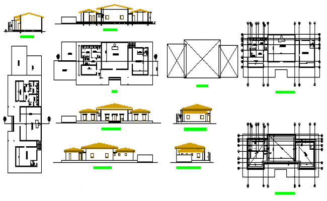 Industrial block layout design drawing