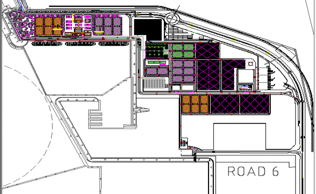 Industrial building layout dwg